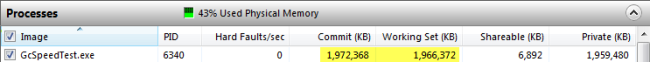 Memory usage after access to array items. Click to enlarge...