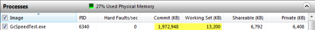 Memory usage before access to array items. Click to enlarge...