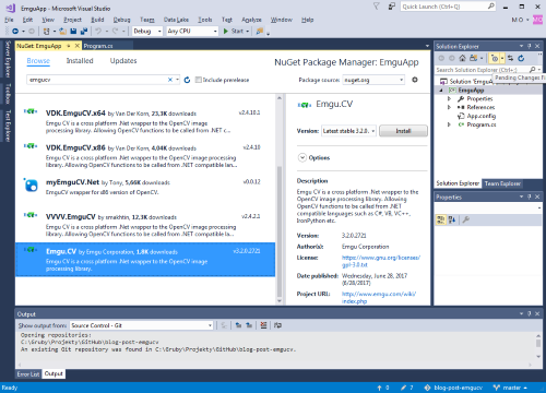 Adding Nuget package... Click to enlarge...