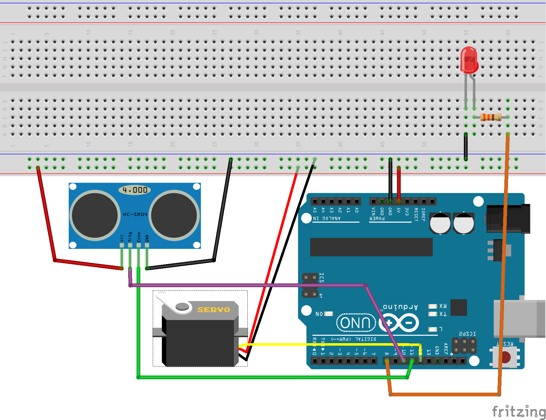 Oob Sonar With Arduino C Javascript And Html5